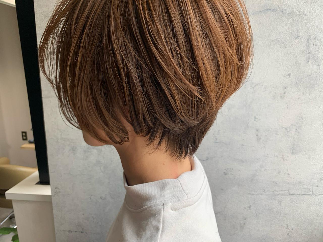 ショート ナチュラル ショートヘア ショートボブ ヘアスタイルや髪型の写真・画像