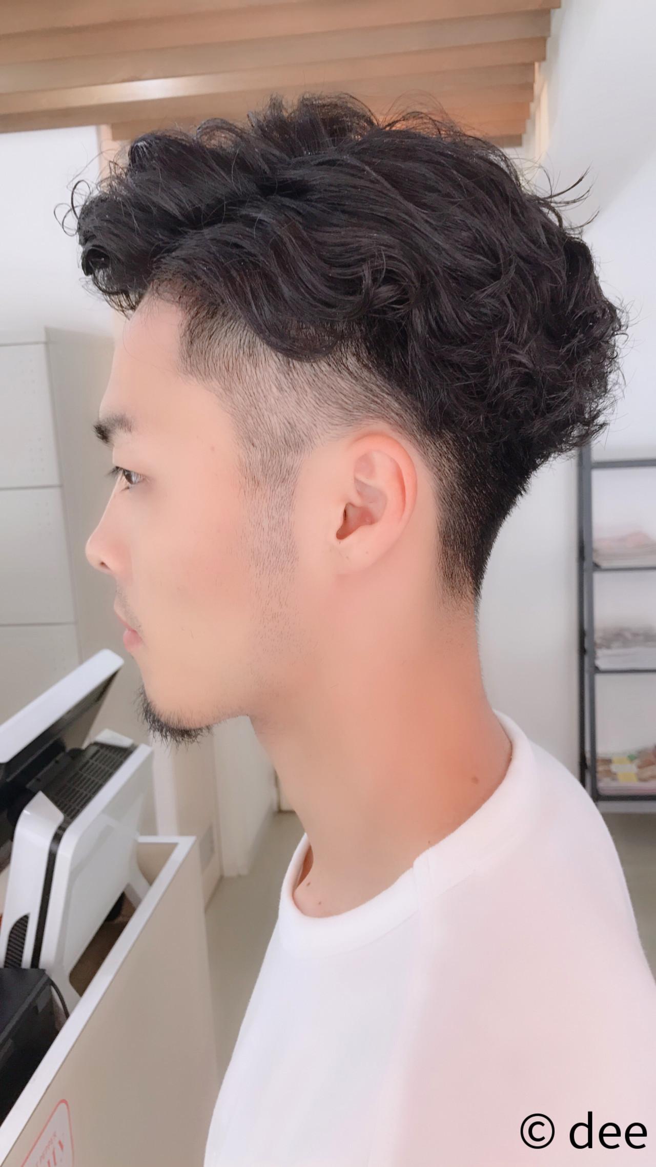 メンズヘア メンズ メンズパーマ ツーブロック ヘアスタイルや髪型の写真・画像