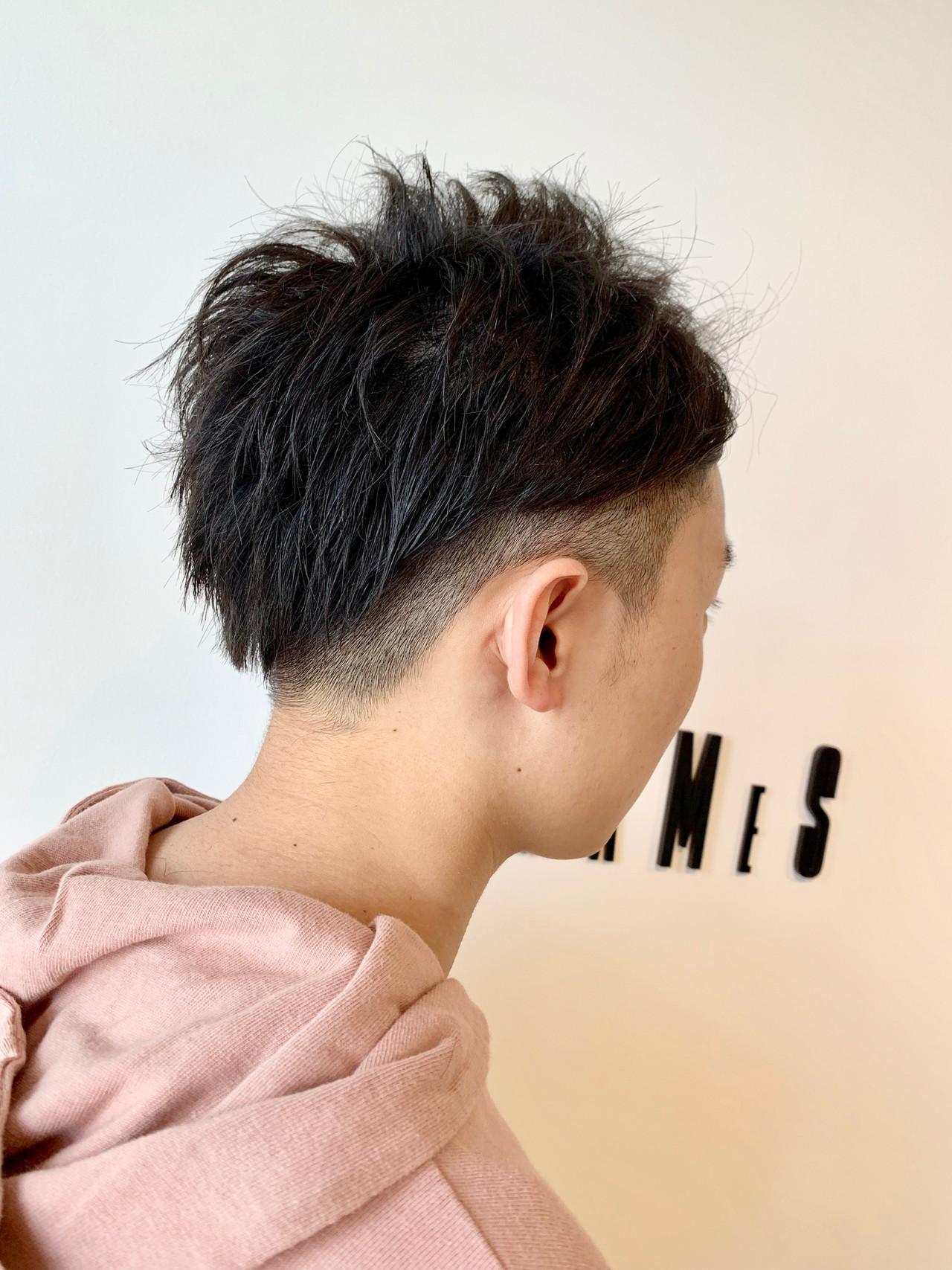黒髪 メンズカット ショート ナチュラル ヘアスタイルや髪型の写真・画像
