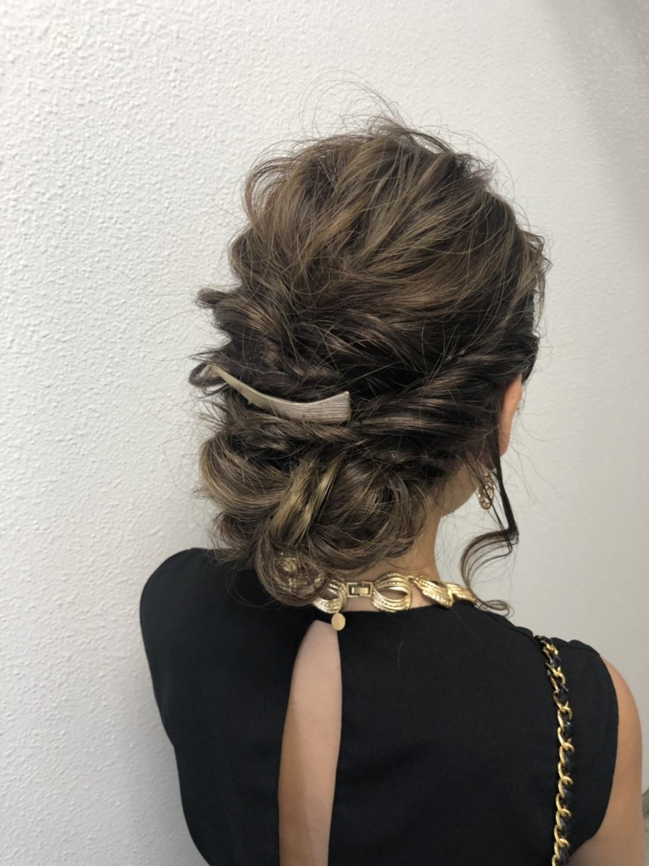 ヘアセット 結婚式 アップスタイル ヘアアレンジ ヘアスタイルや髪型の写真・画像