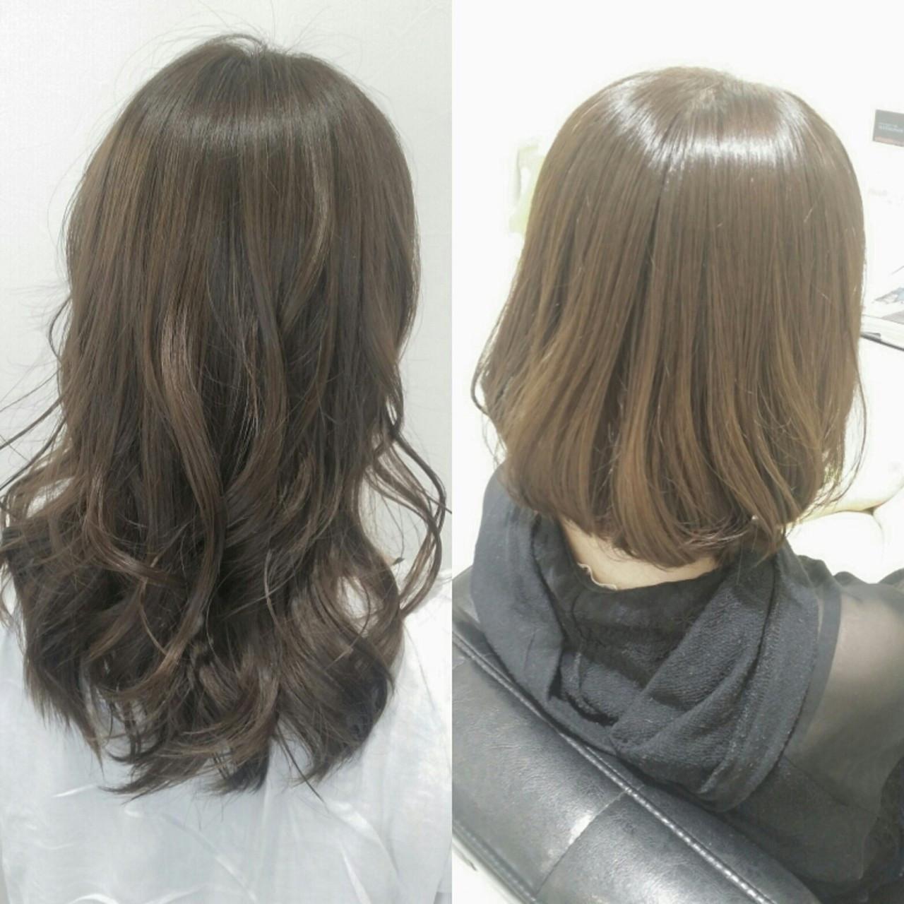 艶髪 ナチュラル アッシュ イルミナカラー ヘアスタイルや髪型の写真・画像