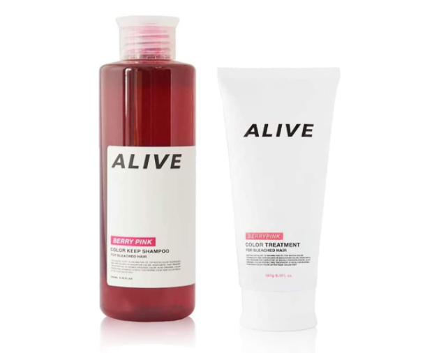 ALIVE COLOR KEEP SHAMPOO & TREATMENT VERY PINK 極濃ピンクシャンプー 200ml カラーキープトリートメント ベリーピンク180g カラーキープシャンプー&カラーキープトリートメント