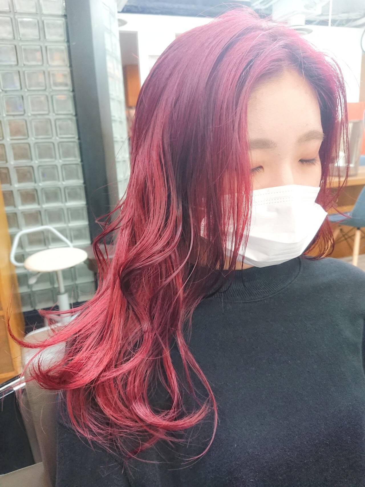 TWICE ジヒョのレッドヘア MATSUDA  HAIR DERA'S 中央通り店