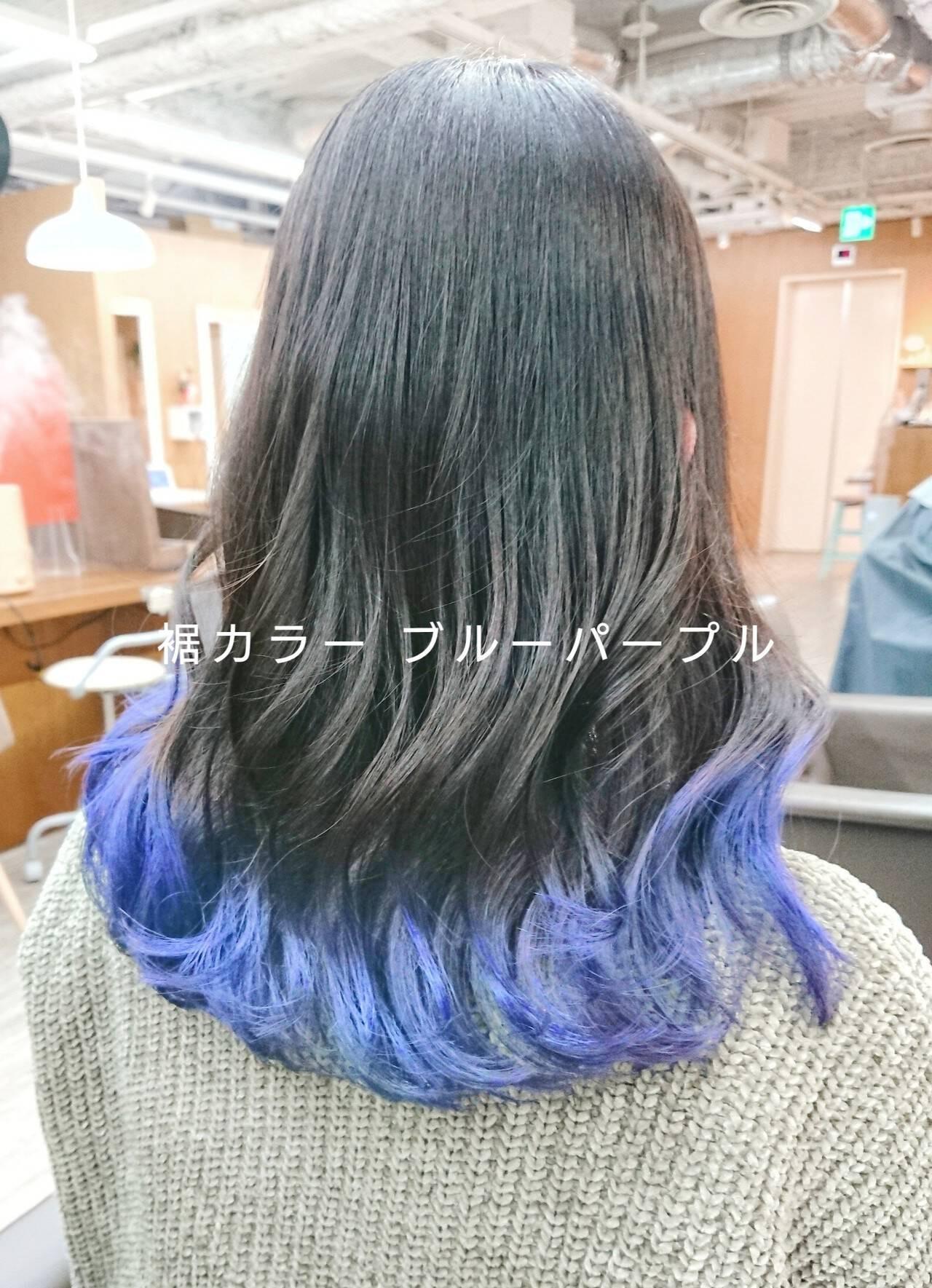 裾カラー MATSUDA  HAIR DERA'S 中央通り店