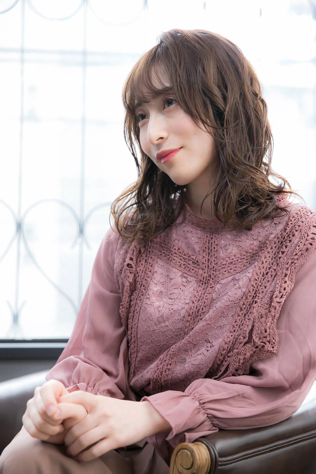 柔らか質感のゆるヘア 前田優  hair&make egerie