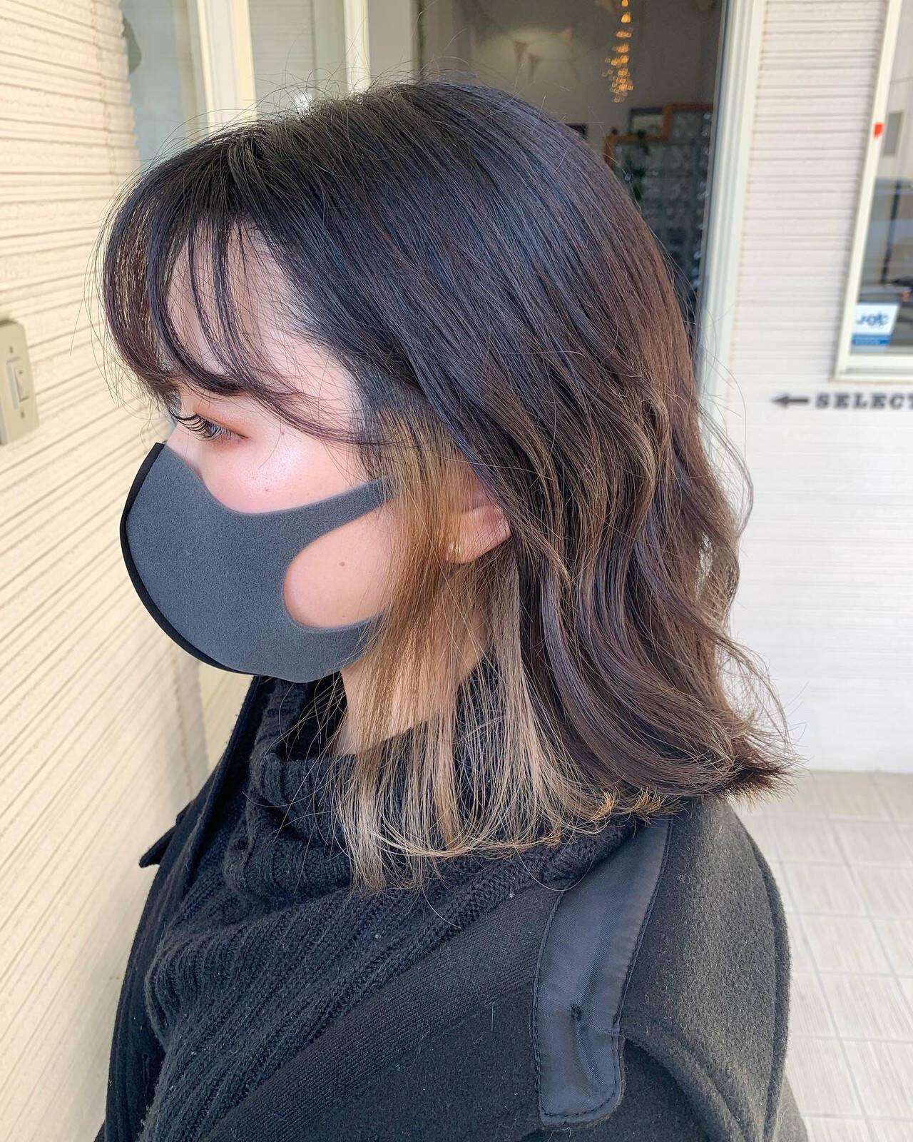 こっそりインナーカラーを仕込んで Sakairi Yuna  hair design Select