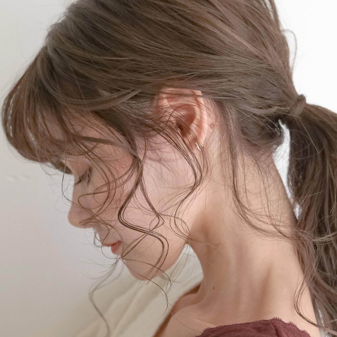 アレンジは耳横・うなじから後れ毛を出して♡ koyori Ootake  Link 表参道