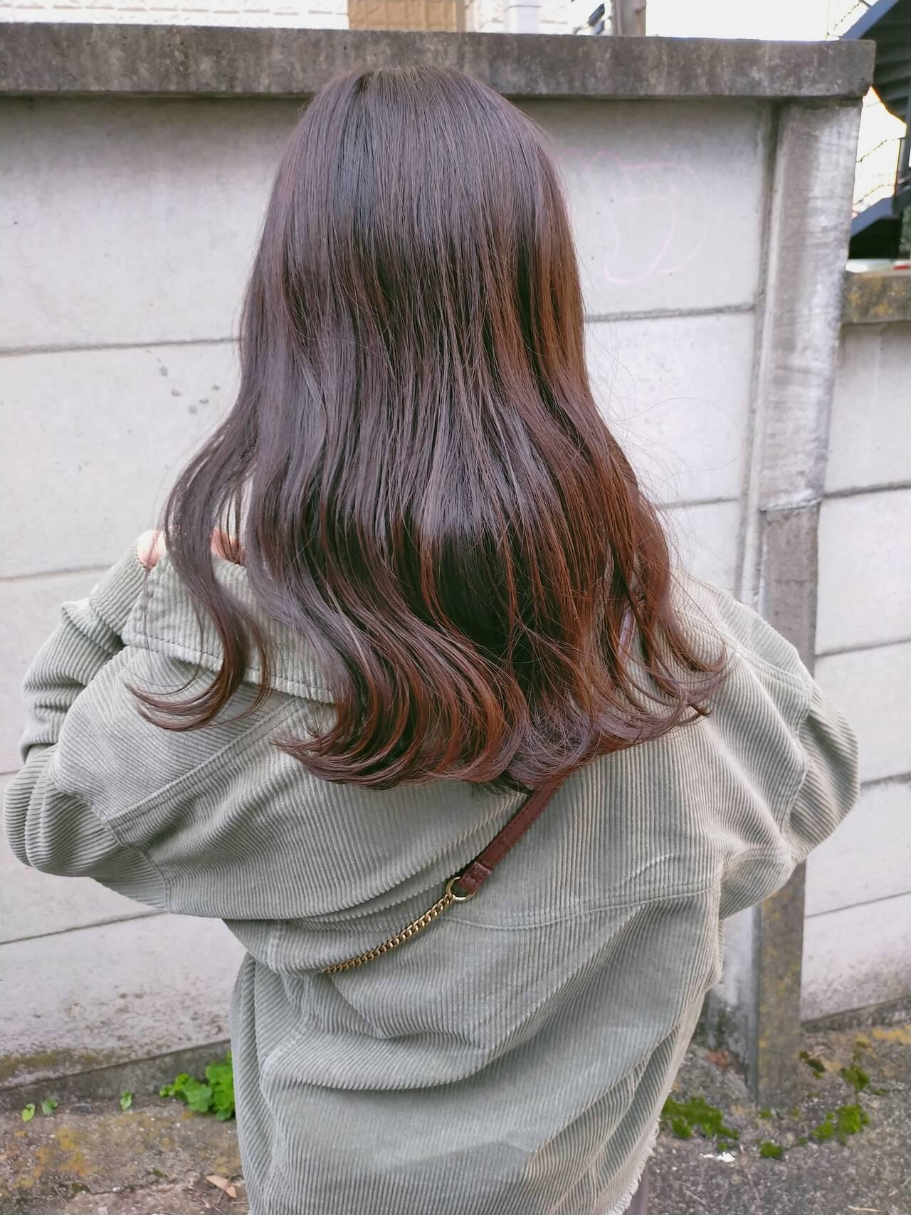 オレンジブラウン×ブリーチなし 前野裕介  enne hair&organic
