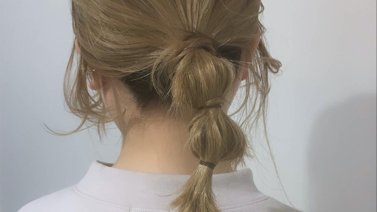 『今日の髪どうする?』簡単セルフヘアアレンジ【ミディアム】