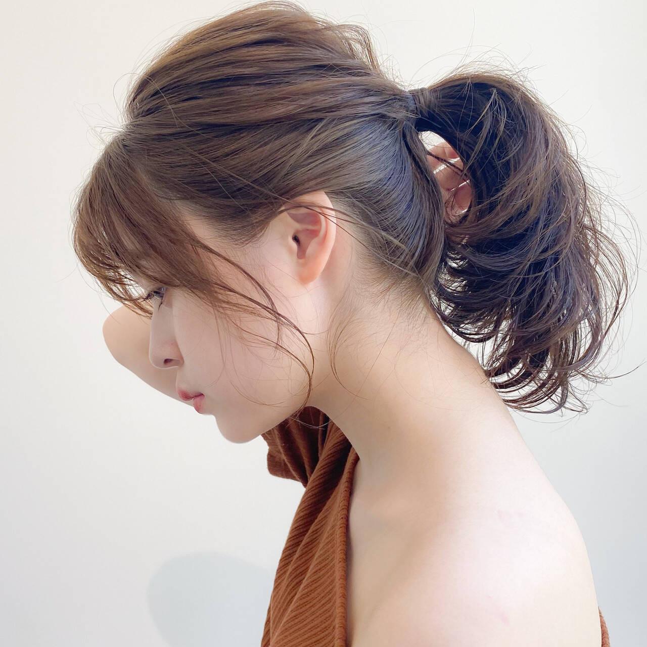 バングが魅力なミドルポニー 櫻木裕紀  dyplus表参道