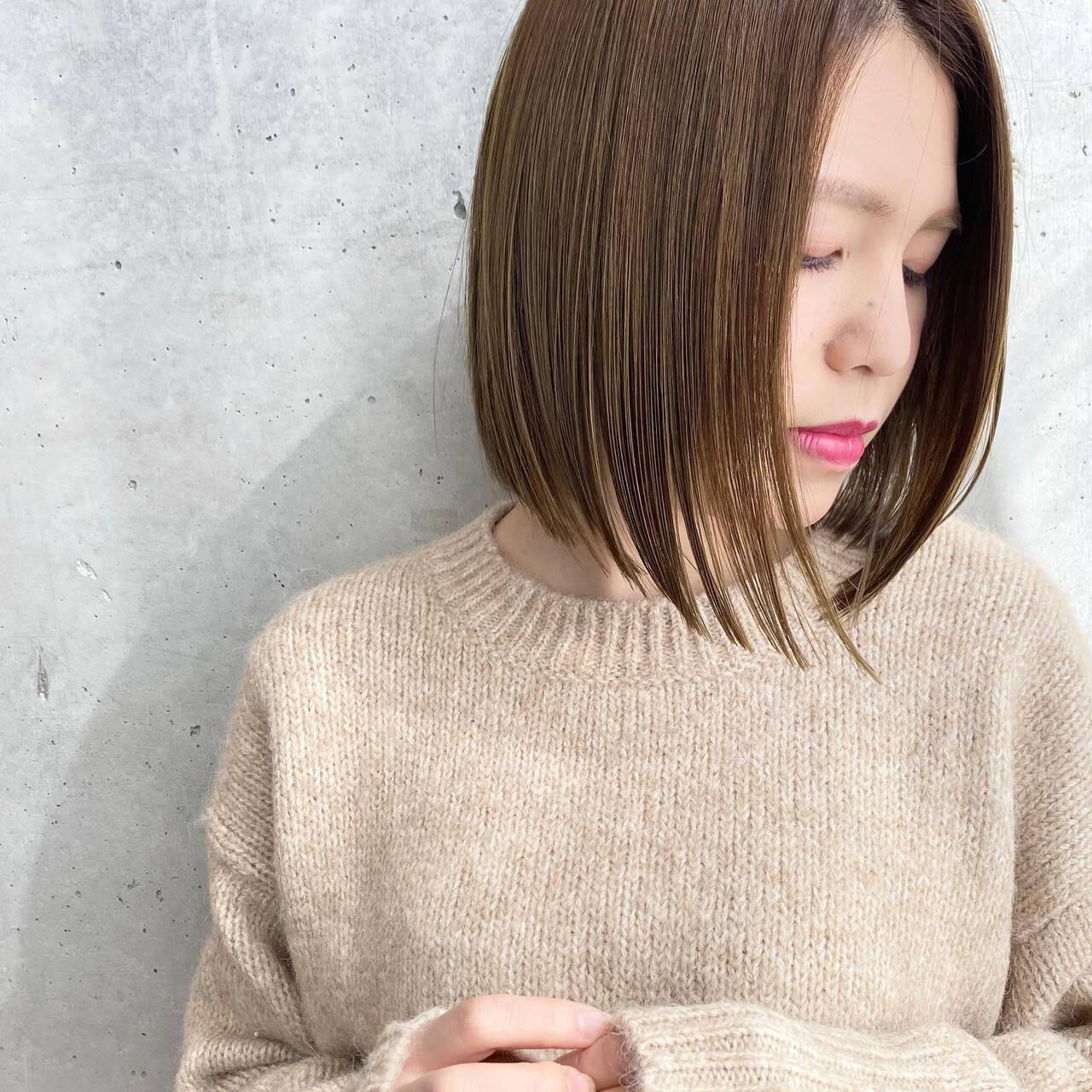ボブ×センターパート 鶴丸ちひろ  FESS cut&colors
