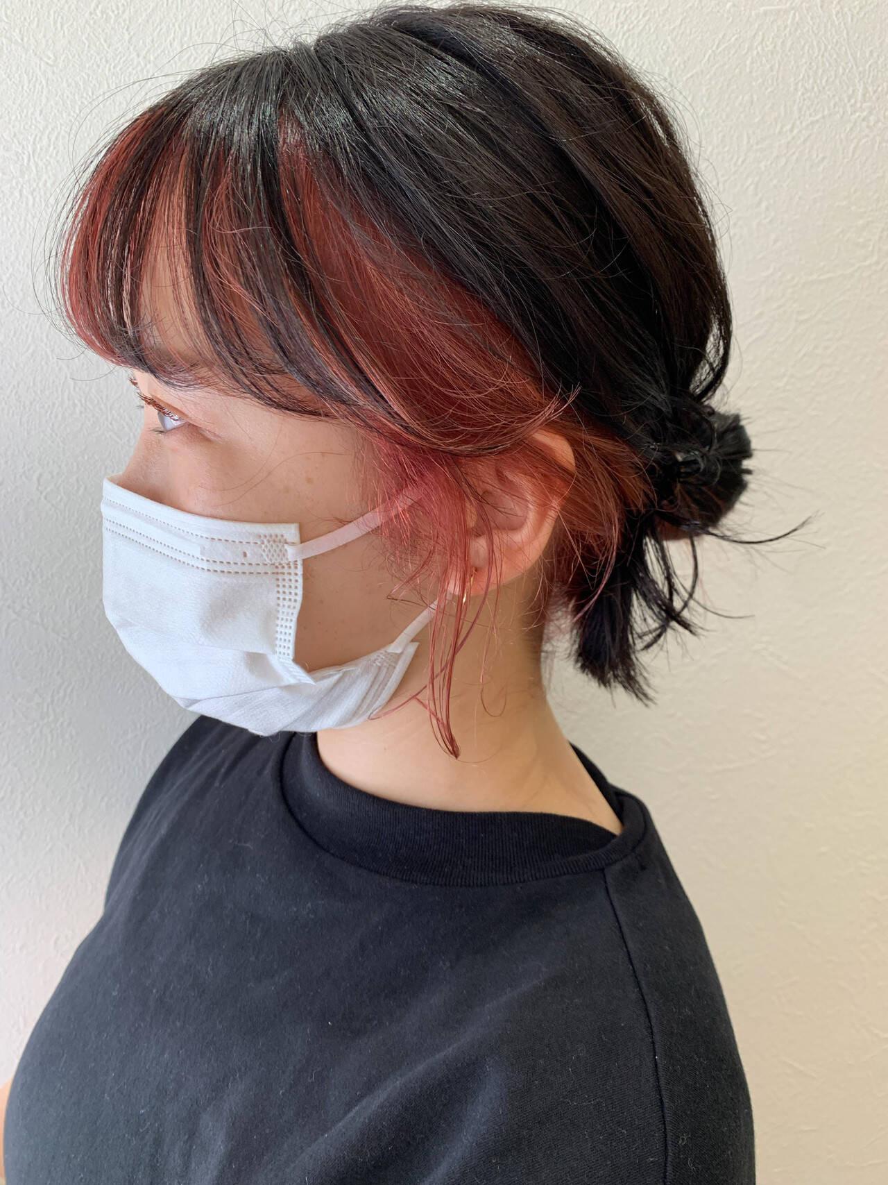 前髪は内側だけに好きなカラーをON 角井 美久  hub hair