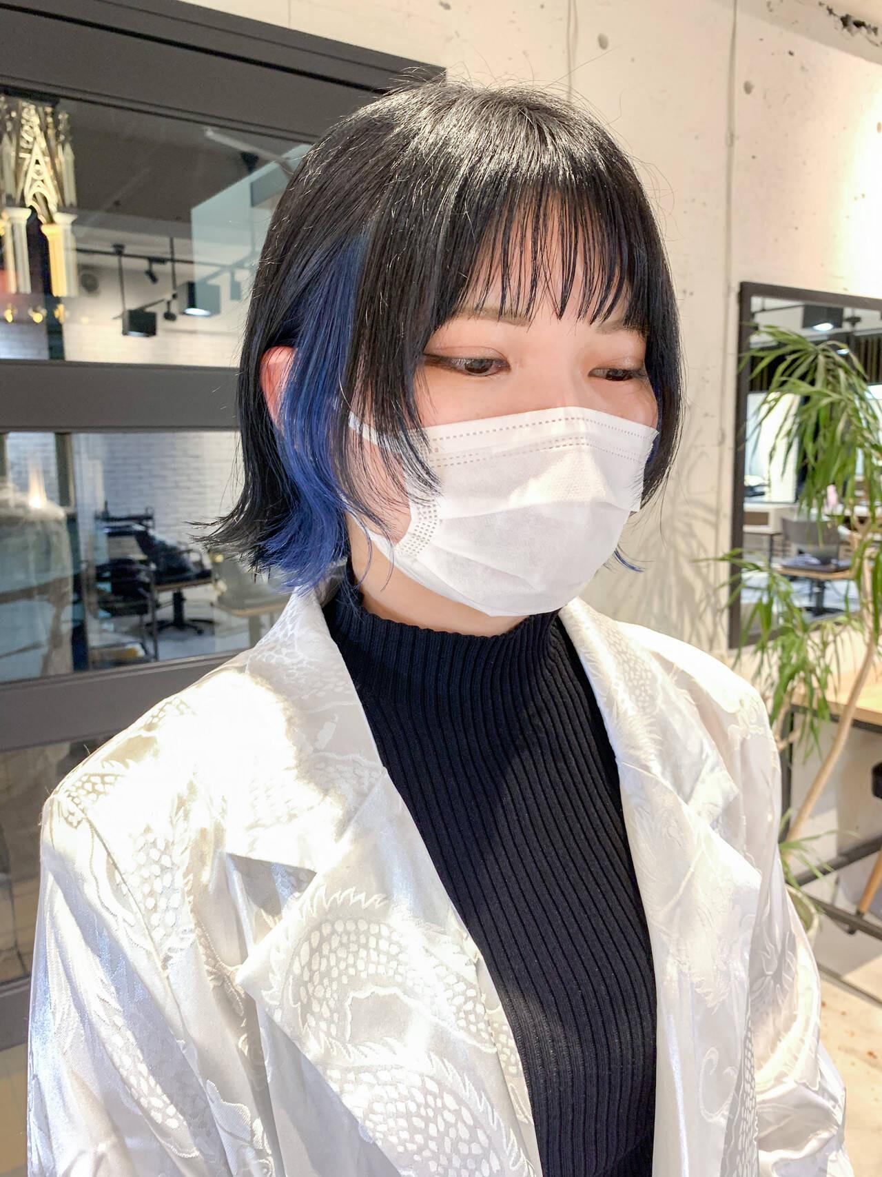 さりげなく:暗髪×ネイビー yuka  dydi表参道