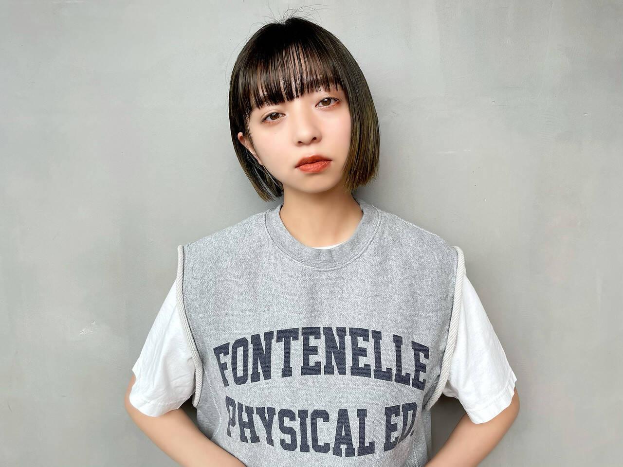 黒髪ミニボブ&ワイドバング 小野康典  Lin'ne terrace